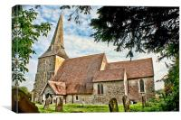 St Mary Sevington, Canvas Print