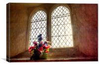 Church Flowers At Capel, Canvas Print