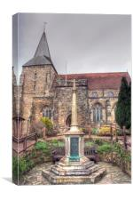 Mayfield Memorial and Church, Canvas Print