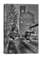 The Mill And The Leat, Canvas Print