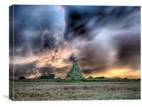 Midley Across The Fields, Canvas Print