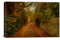 Pheasant Lane In The Fall, Canvas Print