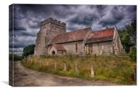 Old Hamsey Church, Canvas Print