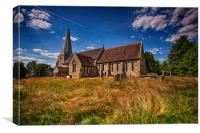 St Andrew and St Mary The Virgin Fletching, Canvas Print