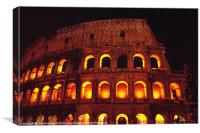 Roman Colosseum at night, Canvas Print