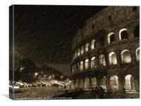 Colosseum in Rome, Canvas Print