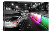 Technicolour Dream Road, Canvas Print