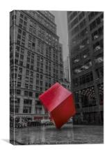 Red Cube, Canvas Print