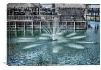 The Fountain at Renegades, Canvas Print