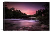 River at sunset, Canvas Print