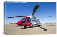 Sikorsky S-92 and Sea King, Canvas Print