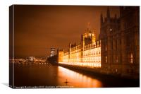 Houses of Parliament, Canvas Print