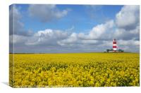 Happisburgh Lighthouse,Norfolk., Canvas Print