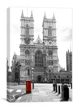 Westminster Abbey London, Canvas Print