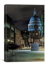 St Pauls Cathedral London By Night, Canvas Print