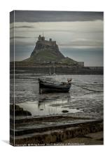 Lindisfarne Castle on the Holy Island in Northumbe, Canvas Print