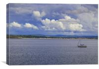 Clouds above Moray Firth, Canvas Print