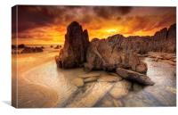 Mortehoe Rockpool, Canvas Print