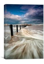 High tide approaching, Canvas Print