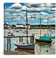 Woodbridge Harbour, Canvas Print