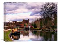 Above Town Lock Newbury, Canvas Print