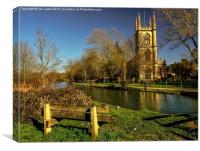 Church of St Lawrence Hungerford, Canvas Print