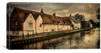 Weavers Cottages Newbury, Canvas Print