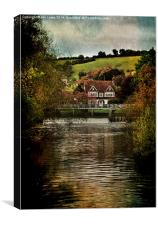 Lardon Chase Seen From Goring , Canvas Print