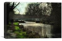 Late Afternoon By The Kennet, Canvas Print