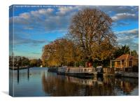 River Thames At Sandford Lock, Canvas Print