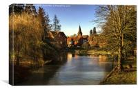 Whitchurch on Thames Mill and Church , Canvas Print