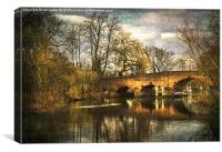 The Bridge at Sonning, Canvas Print