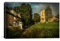 Blewbury Church and Cottages, Canvas Print