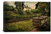 Talybont Canal And Tramway Truck, Canvas Print