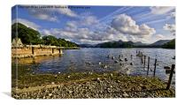 Derwentwater From The Northern Shore , Canvas Print