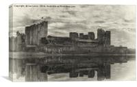 Caerphilly Castle Reflected, Canvas Print