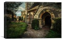 Little Wittenham Church Porch, Canvas Print