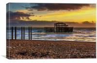 Sunset of the Pier, Canvas Print