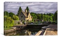 The Lock At Iffley, Canvas Print
