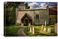 Church Of St Nicholas Ibstone, Canvas Print