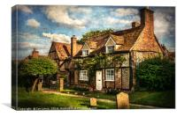 A Corner of Turville, Canvas Print
