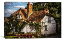 A Chiltern Cottage, Canvas Print