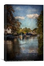 Above The Mill At Goring, Canvas Print