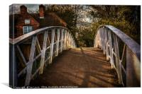 Crossing The Thames At Little Wittenham, Canvas Print