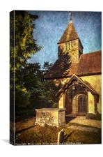 St Laurence Church Tidmarsh, Canvas Print