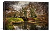 Sulhamstead Lock on the Kennet and Avon, Canvas Print