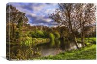 The River Kennet At Burghfield, Canvas Print