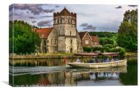 On The Thames At Bisham, Canvas Print