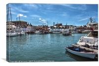 The Harbour at Weymouth, Canvas Print