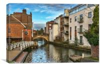 The Kennet And Avon In Newbury, Canvas Print